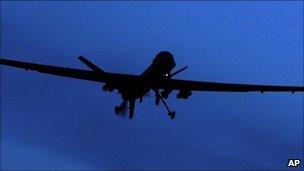 US Predator drone (file image)