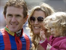 Tony McCoy, wife Chanelle and daughter Eve