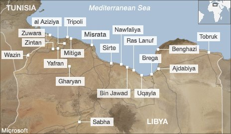 Map of Libya