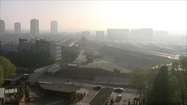 London Smog from TVC window