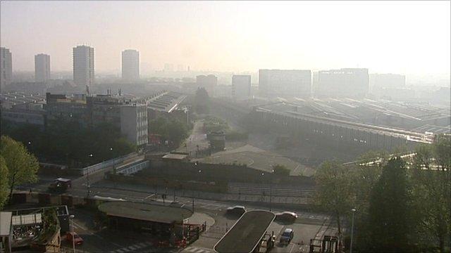 London Smog from TVC window
