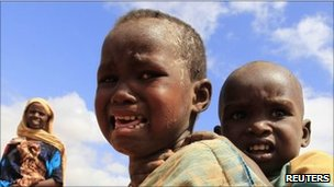 Somali children in refugee camp (file photo)