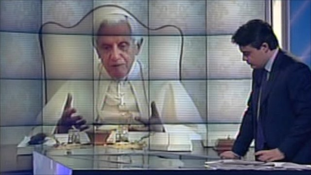 The Pope on television programme