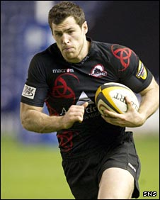 Edinburgh winger Tim Visser
