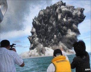 Undersea volcanic eruption near Tonga