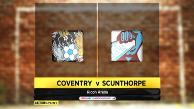 Coventry 1-1 Scunthorpe