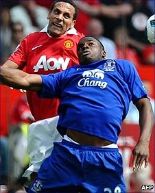 Rio Ferdinand and Victor Anichebe