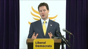 Deputy PM Nick Clegg at an AV rally in Norwich