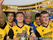 Livingston celebrate promotion