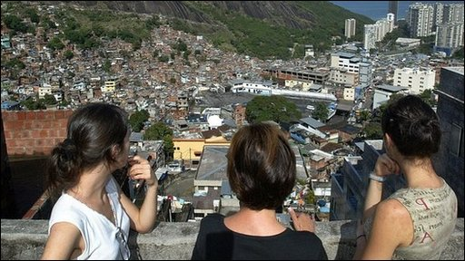 Tourists on a visit to a Favela