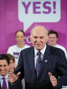 Vince Cable speaks at Yes campaign event