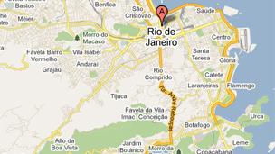 Googlemap of Rio
