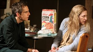 Ben Stiller and Edie Falco in The House of Blue Leaves