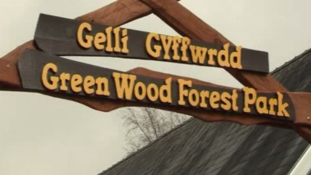 Green Wood Forest Park sign