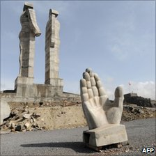 Statue of Humanity in Kars - photo 16 April
