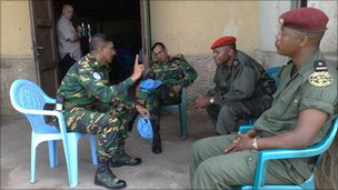Ituri commanding officers for the Congolese army and the UN peacekeeping force in Bukiringi