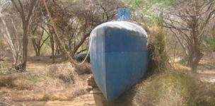 Captured drug submarine