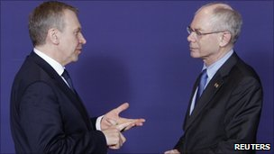 Yves Leterme and Herman Van Rompuy (24 March 2011)