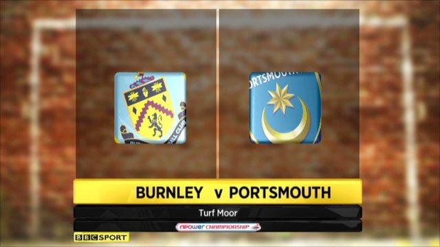 Burnley 1-1 Portsmouth
