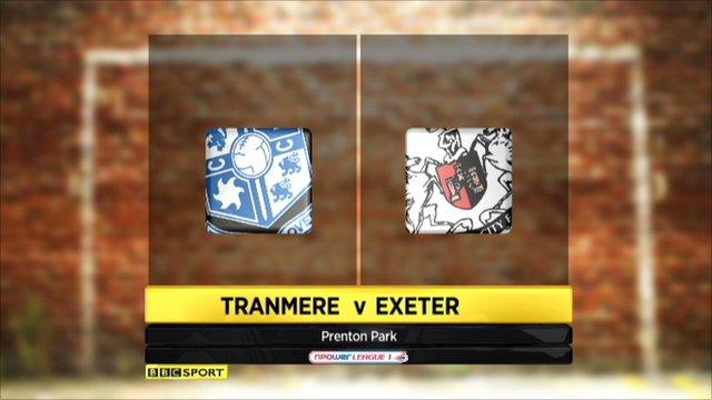 Highlights Tranmere v Exeter