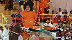 Sathya Sai Baba's Funeral