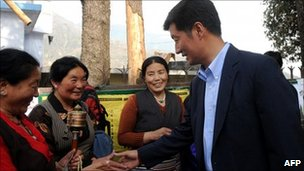 Lobsang Sangay in Dharamsala on 18 March 2011