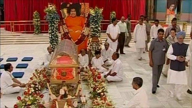 Sai Baba funeral