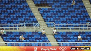 Empty seats at a Beijing 2008 event
