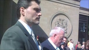 Pasquale Riggi outside the High Court in Edinburgh