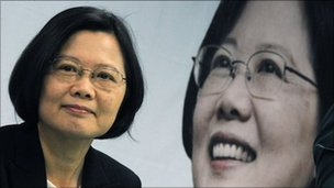Tsai Ing-wen, pictured in her campaign office on 27 April 2011