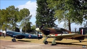 Spitfire and Hurricane at RAF Coningsby