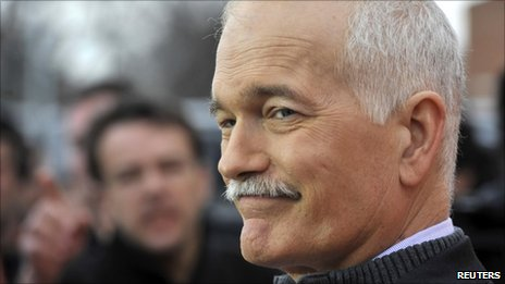 New Democratic Party leader Jack Layton