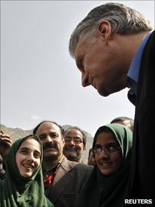 Ambassador Timothy Roemer in Indian-administered Kashmir