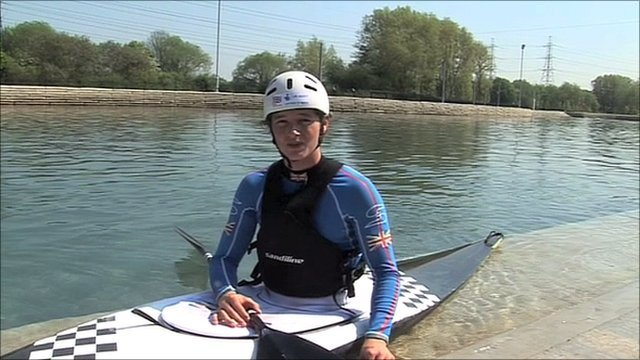 Zachary Franklin at the Lee Valley White Water Centre