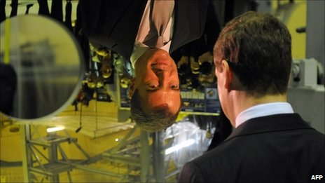 Russian President Dmitry Medvedev visits Lytkarino Optical Glass Factory