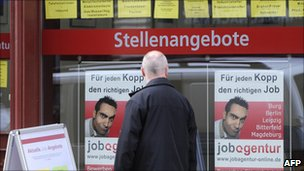 Job centre in Dresden, Germany (file pic)