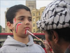 Hazem in Tahrir Square