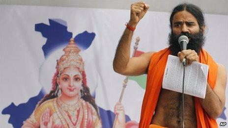 Baba Ramdev India S Campaigning Guru Battles Corruption Bbc News