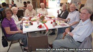 Guests at Volunteer Bureau combined party