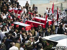 Funeral of soldiers in Damascus