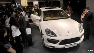 Porsche Cayenne Turbo launch in Mumbai, July 2010