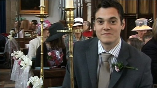 Joe at a wedding - but who is getting married?
