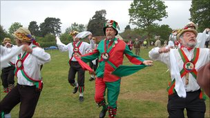 Morris dancers in Bucklebury