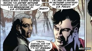 Superman is seen in this panel from the Action Comics issue 900