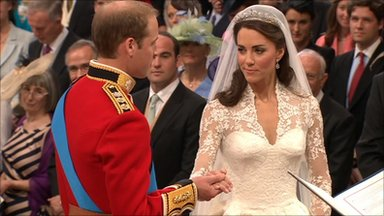 Prince William and Kate exchange vows in Westminster Abbey