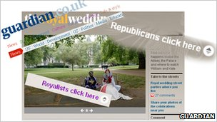 Guardian newspaper website