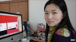 Designer Li Xiangwen in her office in Shanghai.