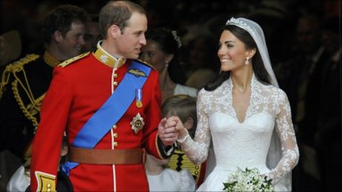 Prince William and his wfie, the newly-titled Duchess of Cambridge