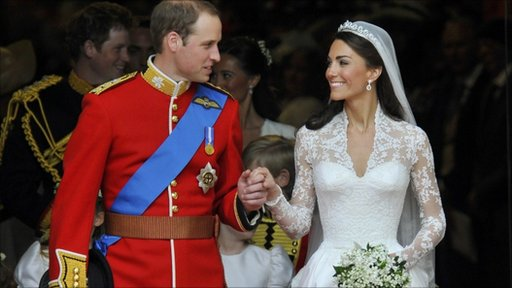 Prince William and his wife, the newly-titled Duchess of Cambridge