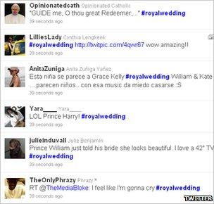 Royal wedding tweets